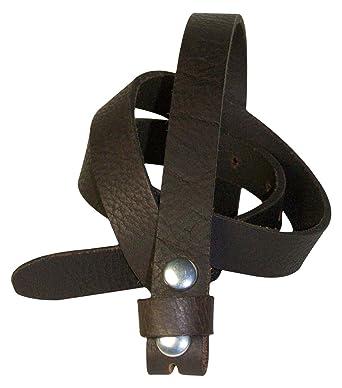 c3743fafbe9 Fronhofer Fine ceinture de rechange en cuir pleine fleur de 2 cm de large  sans boucle