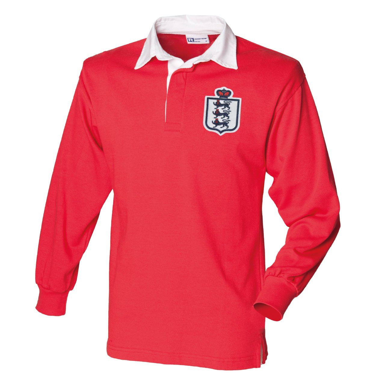 Men's Retro England Football Long Sleeved Rugby Shirt