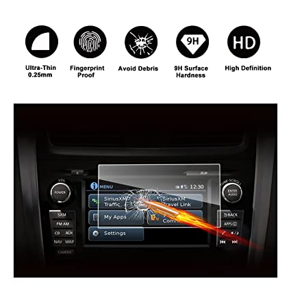 2015-2018 Nissan Rogue NissanConnect 7-Inch Touch Screen Car Display  Navigation Screen Protector, RUIYA HD Clear TEMPERED GLASS Car In-Dash  Screen