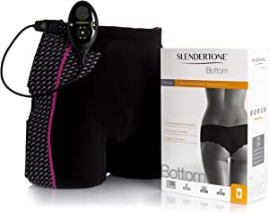 Slendertone Short Bottom Electroestimulador para glúteos Mujer, Negro/Rosa
