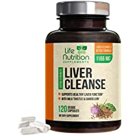 Liver Cleanse Formula 1100mg - Extra Strength 22 Herbs Support Supplement - Made...