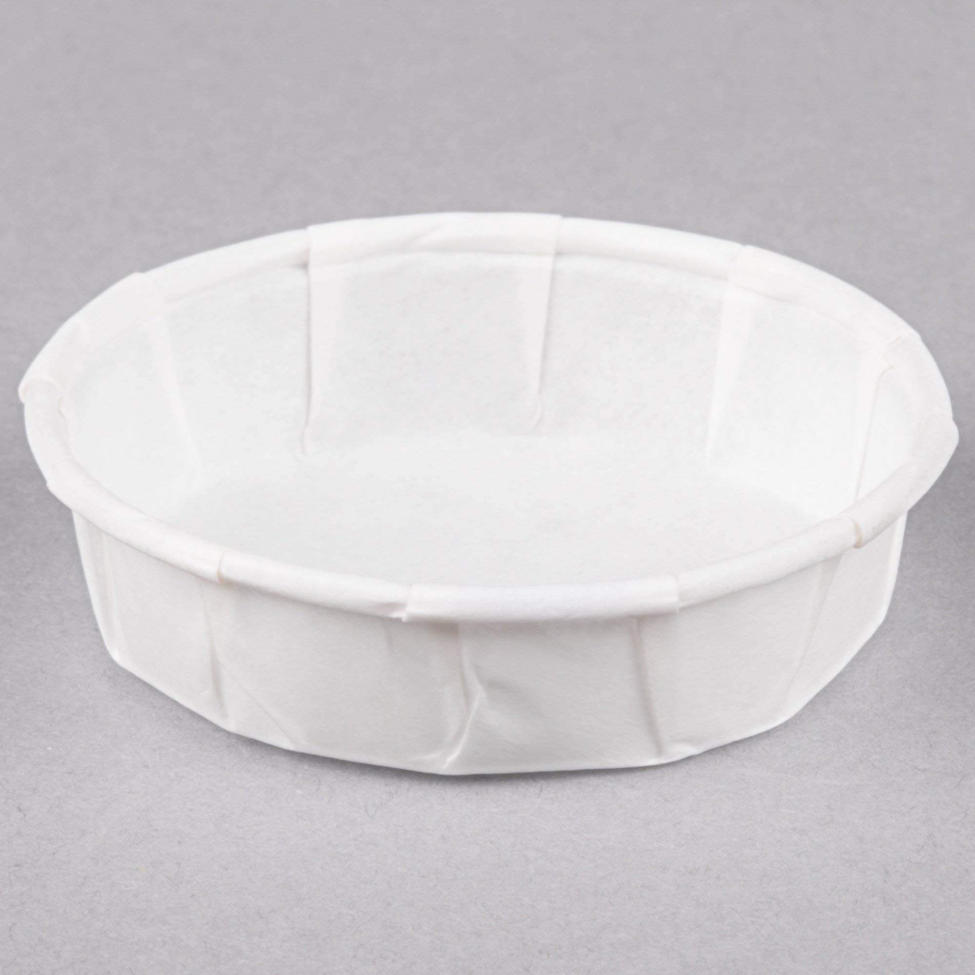 Genpak F075S .75 oz. Squat Harvest Paper Souffle / Portion Cup - 5000/Case by Genpak