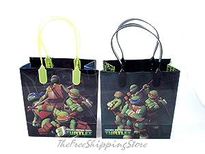 Ninja Turtles Party Favor Goodies Gift/ Bags 24 Pieces