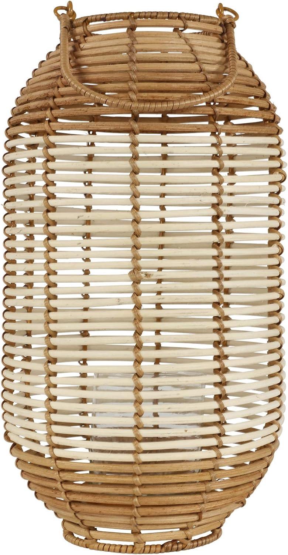 Bambus Laterne Saigon zweifarbig braun und natur /Ø20x36 cm