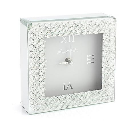 Moderno espejo cuadrado mantel diamante reloj independiente dormitorio sala de estar
