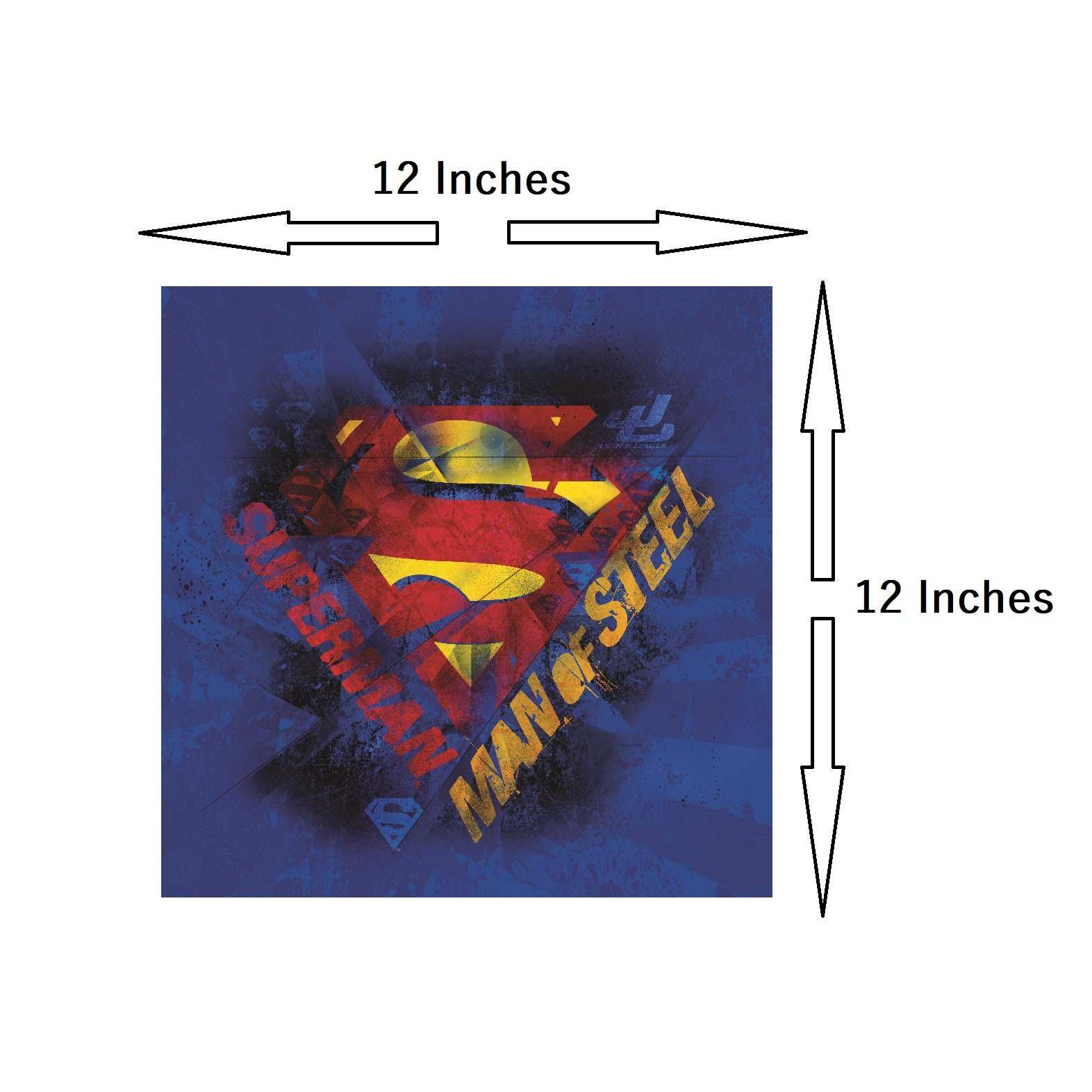 Modern Littles Justice League 5 Piece Canvas Wall Art Set Featuring Superhero Character Designs of Superman, Batman, Green Lantern and Flash Gordon, Multicolored by Modern Littles (Image #3)
