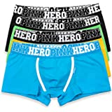 EVBEA 4 Pack Men's Underwear Briefs Big Soft Cotton Stretch Boxer Shorts Trunks Low Rise Hipster