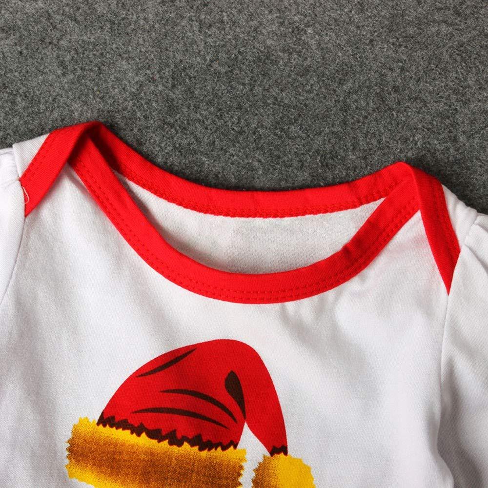 Theshy Toddler Newborn Baby Girls Letter Princess Tutu Dress Christmas Hat Outfits Set Bodysuit Long Sleeve