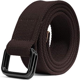 Cintura Lavoro in Tela Cintura da Uomo Donna Fibbia D-ring Unisex per Lavorare Sport Allaperto Tattica Casuale ITIEZY Cintura Uomo 2 Pacchi