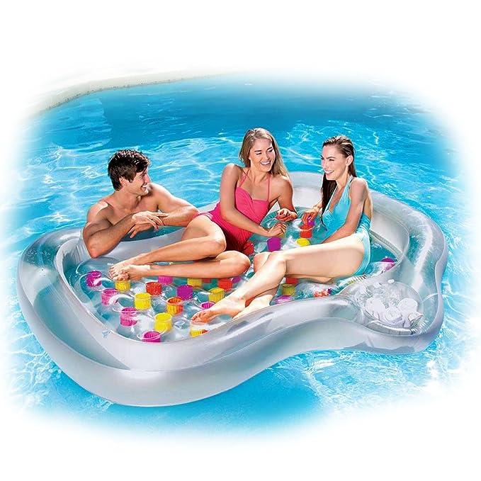 Bestway Super Deluxe - Colchoneta hinchable para piscina, diseño ...