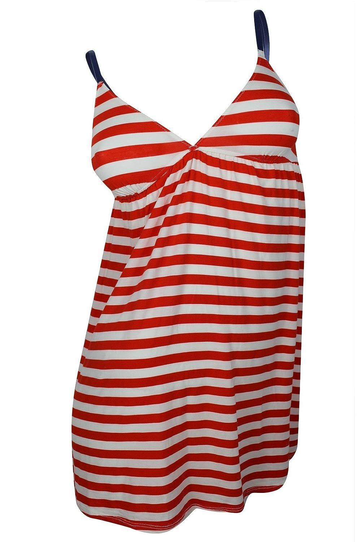 Splendid Women's Red White Striped Camisole Beach Top