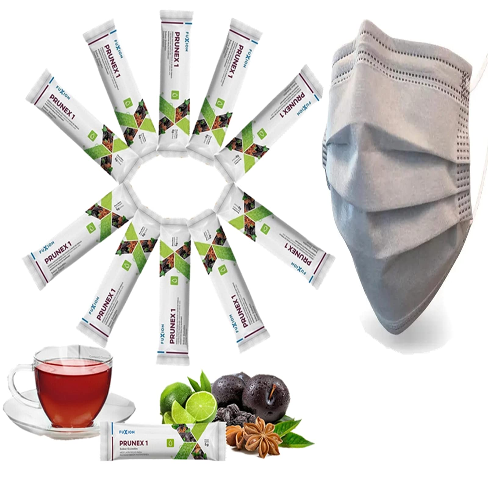 All Natural Ingredients Detox Cleanse Instant Tea Mix Prune & Plum w.