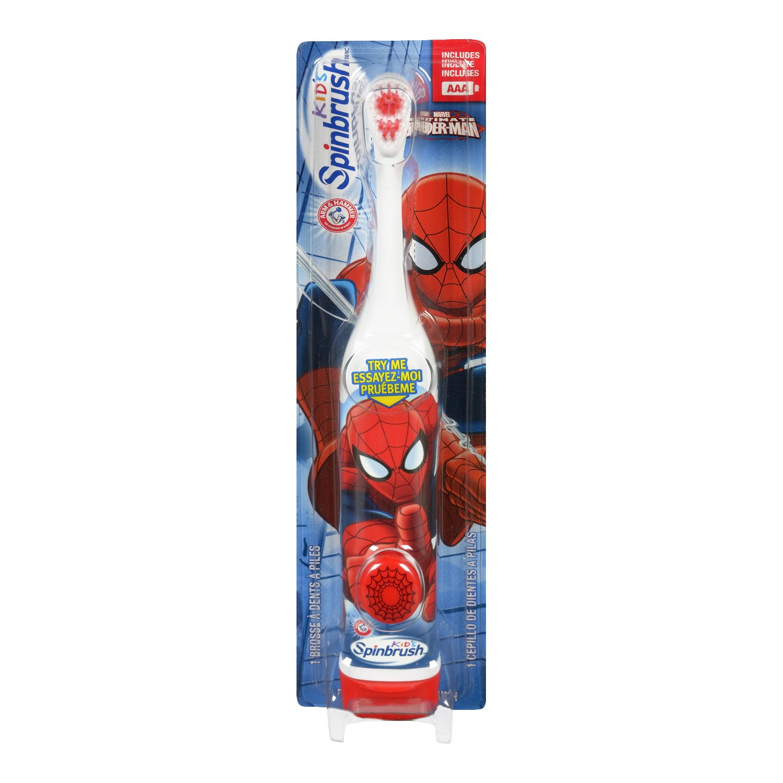 ARM & HAMMER Spinbrush Kids Battery Powered Toothbrush, Spiderman 766878002705
