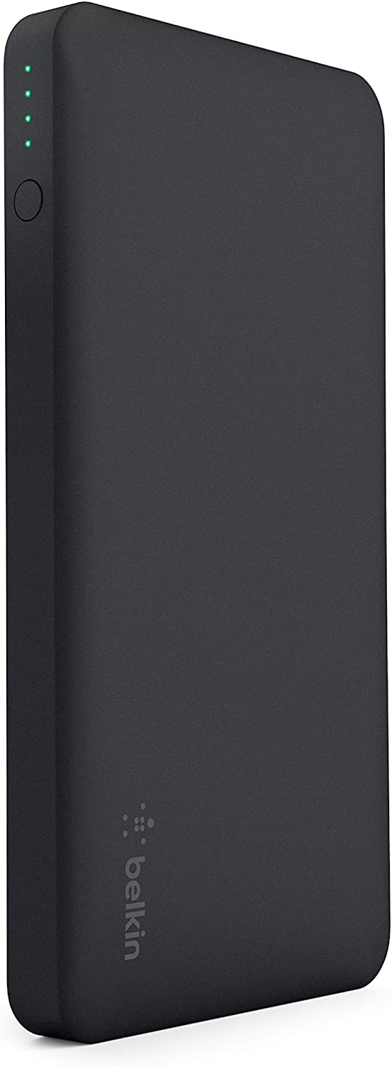 Belkin Pocket Power 10K Power Bank (Portable Charger for iPhone, Samsung Galaxy, Google Pixel 3 , Apple Watch and more), Black