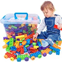 SYGA 416 Pcs Toy Building Bricks Educational Game Blocks Kit for 3+ Childern (Plastic Box)
