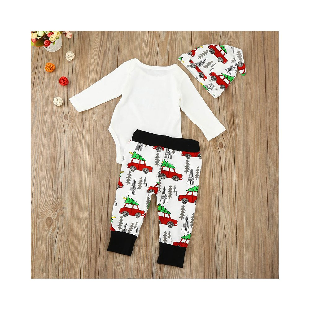 925200266 Funoc 3PCS Baby Boys Bodysuit Christmas Romper Suits Xmas Outfit ...