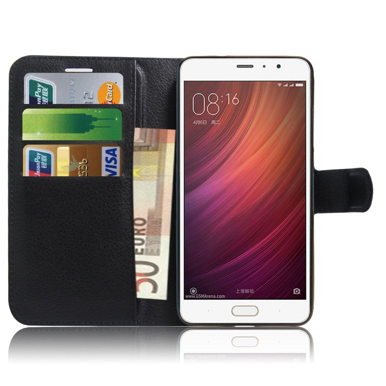 Xiaomi Redmi Note 4 Case، Anzhao فليب حالة جلدية المحفظة الواقية ل xiaomi redmi ملاحظة xnumx (أسود)