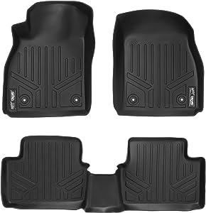 MAXLINER Floor Mats 2 Row Liner Set Black for 2013-2016 Chevrolet Malibu