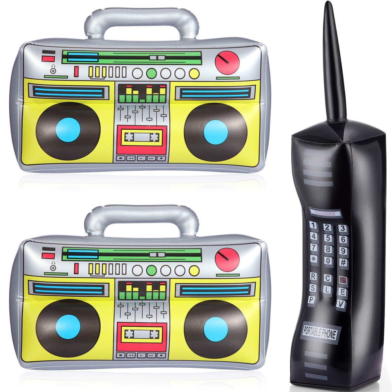 Gejoy 3 Piezas de Radio Inflable y Teléfono Explotasión Teléfono ...