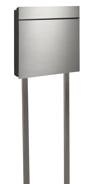 Briefkasten Stand serafini briefkasten flat wide mit edelstahl front standrohren