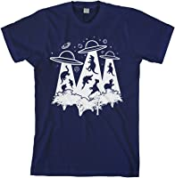 Threadrock Men's Dinosaur Alien Abduction T-Shirt