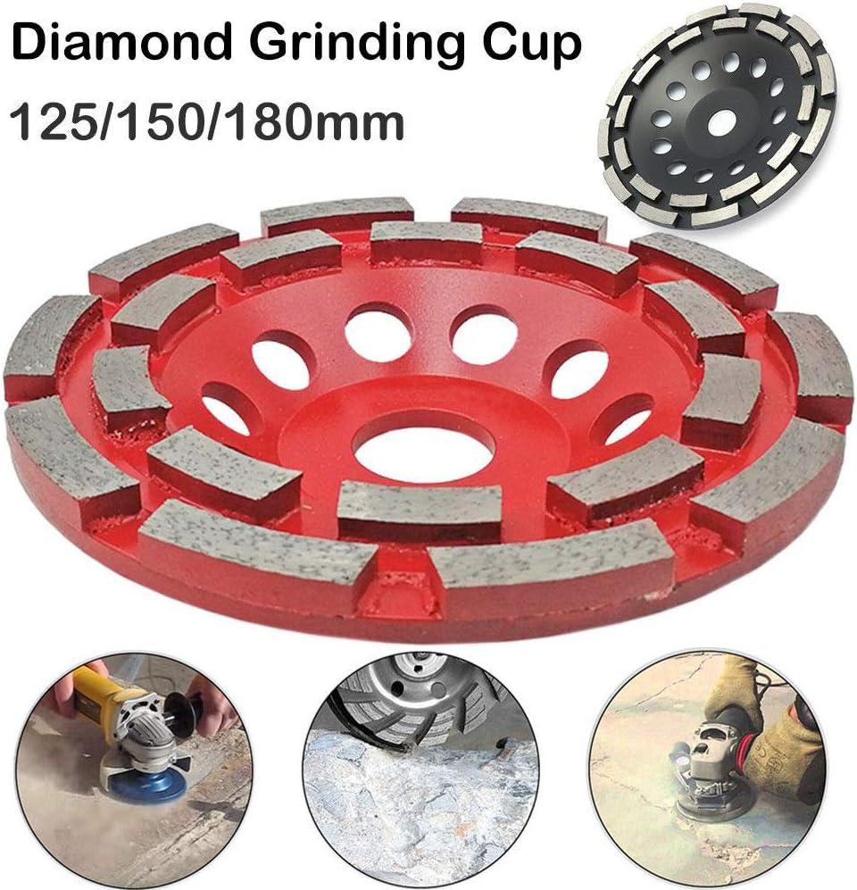 Diamond Cup Wheel MASO para hormig/ón mamposter/ía m/ármol piedra natural doble fila rojo Herramienta de corte de m/ármol de granito con disco de diamante universal granito