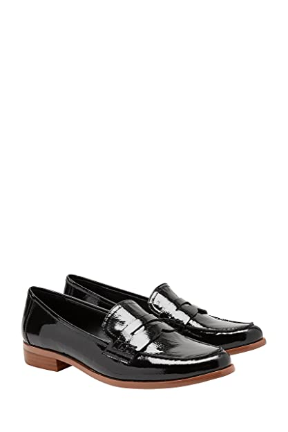 next Mujer Zapatos Estilo Mocasines De Charol Sin Cierre: Amazon.es: Zapatos y complementos