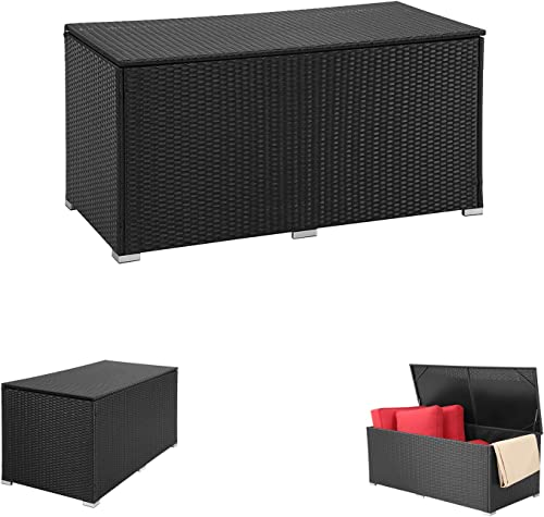 OVASTLKUY 186 Gallon Deck Box Outdoor Storage Box for Patio Furniture Cushions and Gardening Tools