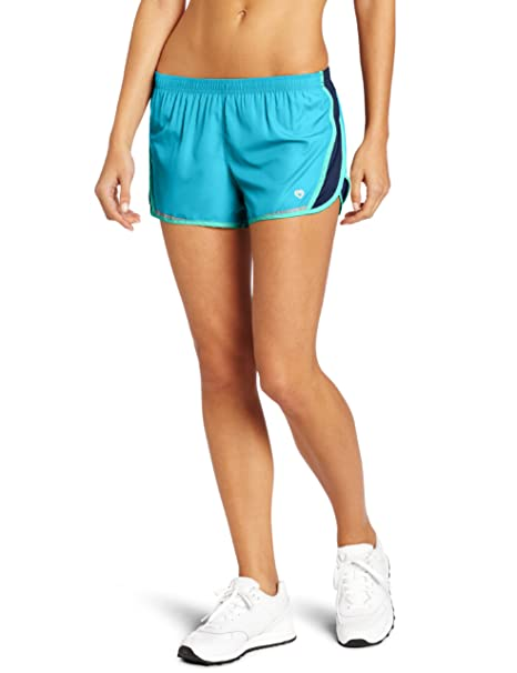 7e74241fd Colosseum Women's Breeze Running Short, Carib Sea/Dress Blues/Pool Green, X