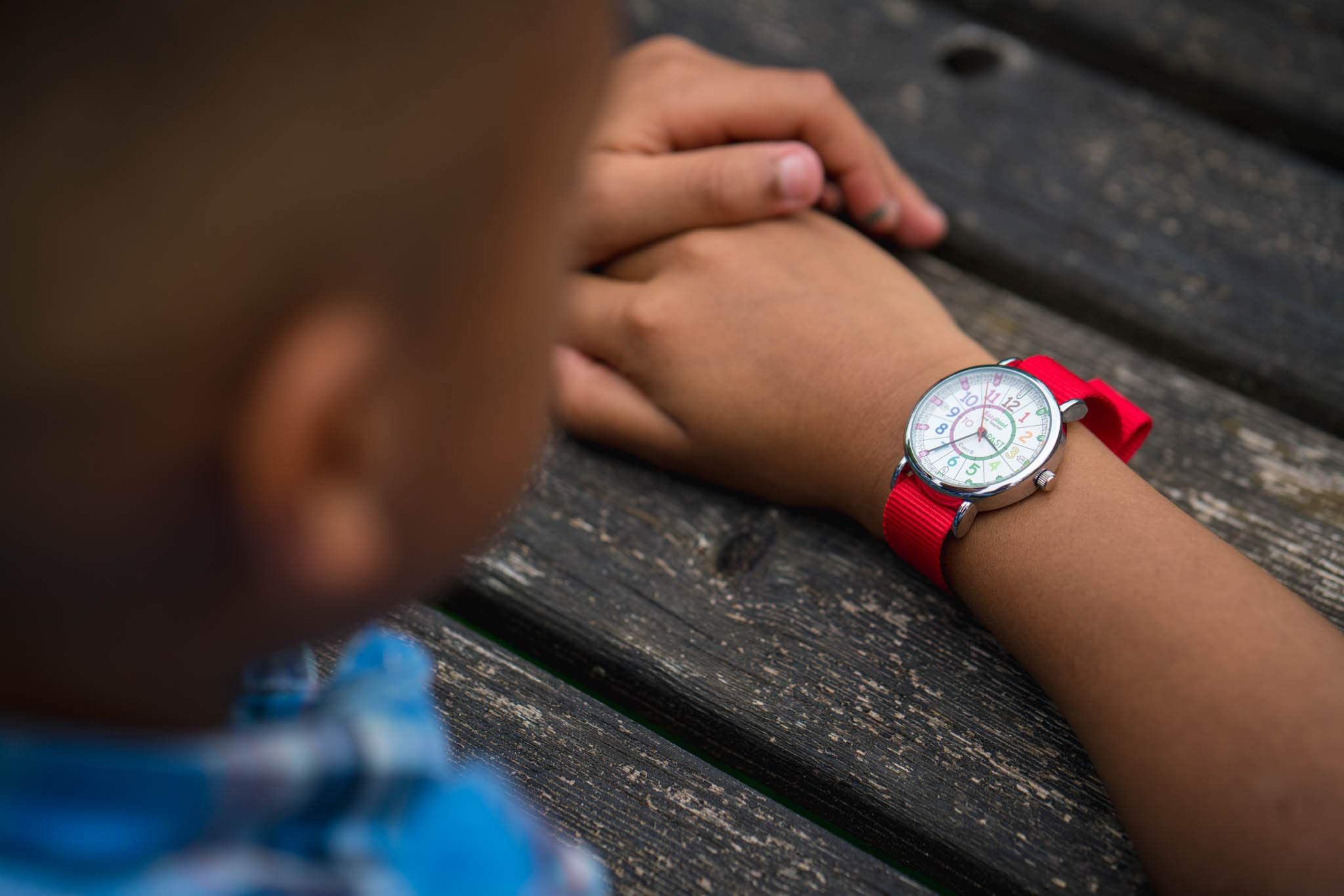 EasyRead Time Teacher Children's Watch, Red Blue Past & to Face, Red Strap by EasyRead Time Teacher (Image #7)