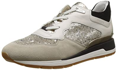 3622931fc47559 Geox D D Shahira B, Sneakers Basses Femme, Beige (Off White/Lt Taupec1181