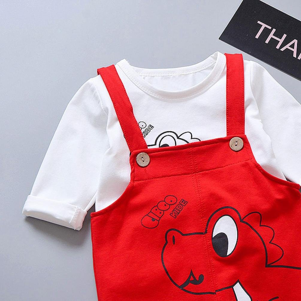 Jarsh Toddler Infant Baby Boys Girl Little Elephant Print Romper Suspenders Jumpsuit Outfits