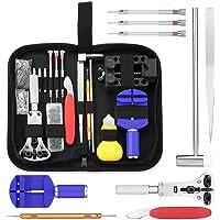 Tool Kit Professionale di Riparazione Orologi, Attrezzi di Apertura Orologi portatile di CookJoy,Dispositivo di rimozione del collegamento pin di apertura