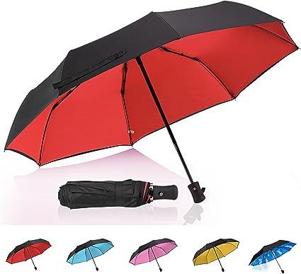 Bubble Transparent Fashion Dome Auto Open Umbrella Windproof for Outdoor Weddings Red HAOCOO Unicorn Clear Umbrella