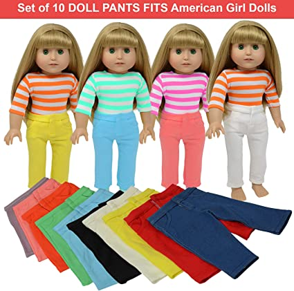 "Pink and White Striped Long Sleeve Blouse Fits 18/"" American Girl  Dolls"