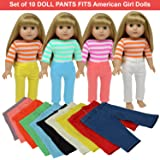 Doll Tights Dolls Clothes Accessories The New York Doll Collection Set of 6 Slotted Leggings Tights Fits 18 inch//46 cm Fashion Dolls