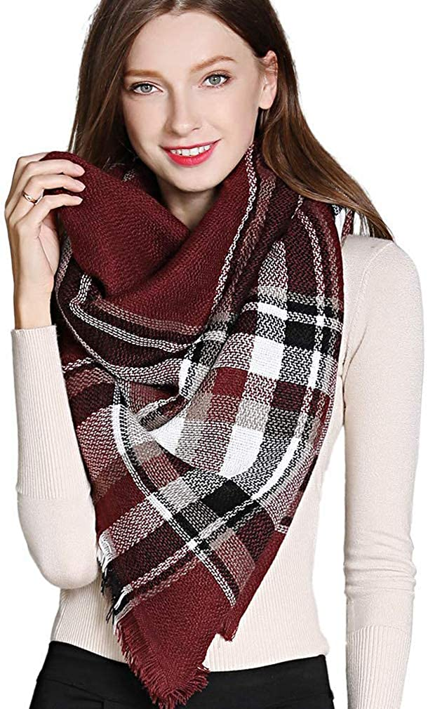 GERINLY Winter Soft Plaid...