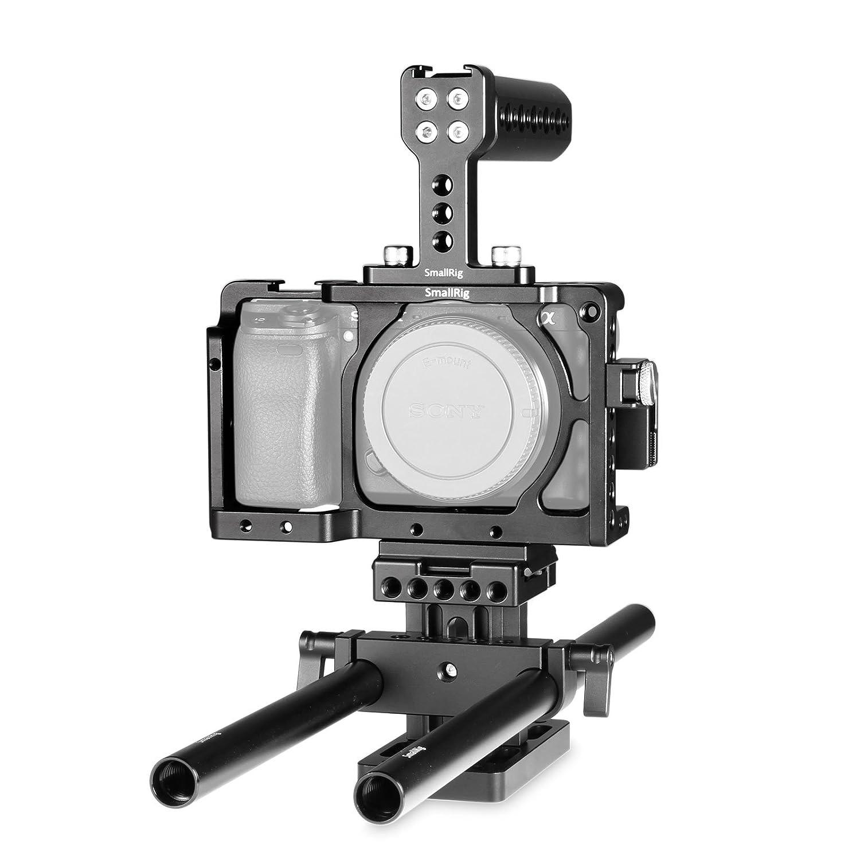 SMALLRIG Sony A6300/A6000/ILCE-6000/ILCE-6300/NEX7用アクセサリーキット(SmallRig ケージ1661、Arca標準スイス1729、 HDMIクランプ1822、トップハンドル1638、15mmロッド1053を含む)DSLRキット 撮影機材キット 撮影補助機材-1886  Cage Kit 2 B01M2ABAA2