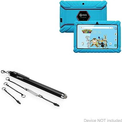 Bullet Capacitive Stylus Myepads Zeepad Kids Mini Stylus Pen with Keyring Loop for Myepads Zeepad Kids BoxWave Stylus Pen 7 in - Jet Black 7 in