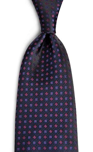 3514619d733d DiBanGu Men's Formal Black Tie Handkerchief Silk Woven Tie Floral Pocket  Square Set Business