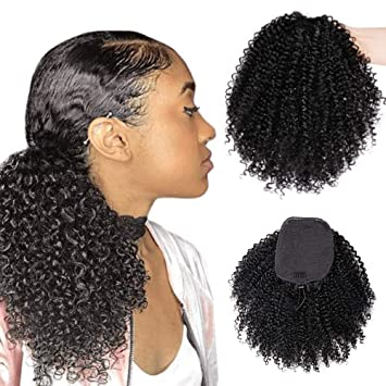 Vigorous Afro Kinky Curly Hairpiece Synthetic
