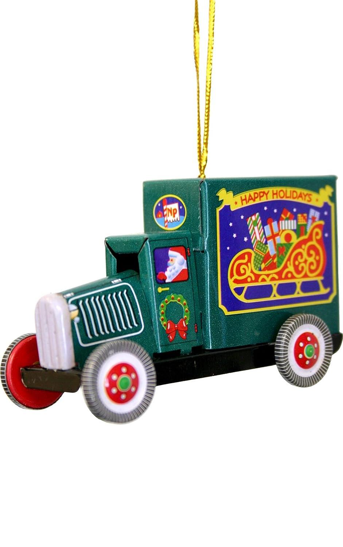 Alexander Taron Importer MM281 Collectible Tin Ornament Truck Blue 2 H x 3 W x 1.5 D