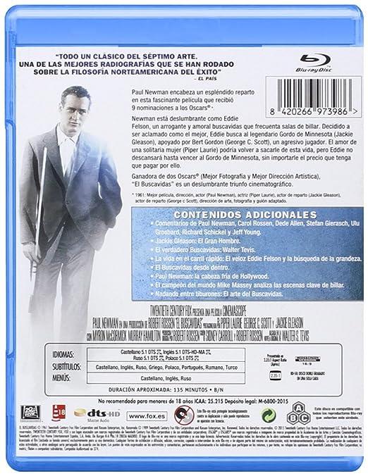 El Buscavidas - Blu-Ray [Blu-ray]: Amazon.es: Paul Newman, Jackie Gleason, George C. Scott, Piper Laurie, Alexander Ross, Carl York, Murray Hamilton, Myron Mccormick, Robert Rossen, Paul Newman, Jackie Gleason: Cine y Series