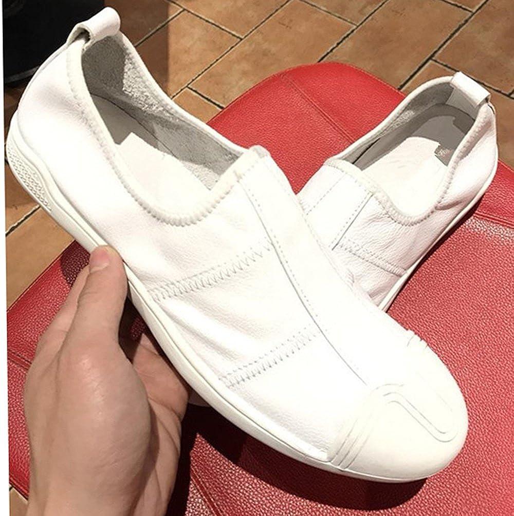 Hohe Qualität Männer Schuh Loafers Leder Weiß Schuhe Freizeitschuhe Mode Schuh Männer Faule Schuhe Verbesserte Version 36a34a