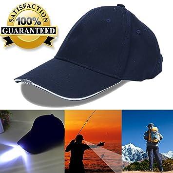 25a6e6a4b060 5 LED gorra de béisbol gorro con luz para pesca y Huting, azul ...