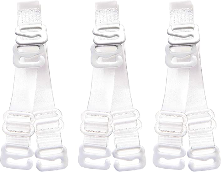 Wingslove 3Pairs Soft Clear Crystal Invisible Transparent Bra Shoulder Straps
