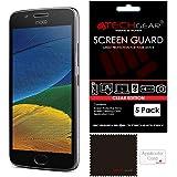 [Pack of 5] TECHGEAR® Motorola Moto G5 CLEAR LCD Screen Protector Cover Guards [Lenovo Moto G5]