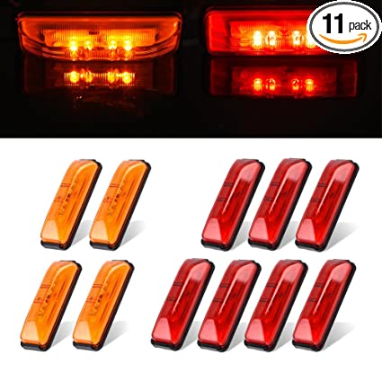Truck Light System Truck Parts Responsible New Arrival 10pcs 6 Led Truck Lorries Bus Clearance Side Marker Indicators Light Lamp Amber Red Outstanding Features