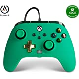 PowerA Enhanced Wired Controller for Xbox Series X|S - Green, Gamepad, Wired Video Game Controller, Gaming Controller, Works