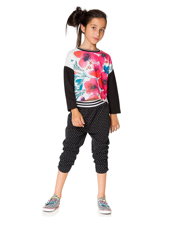 Sizes 4-12 Deux par Deux Girls Jersey Pants Cest le Bouquet